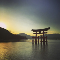 Miyajima shrine sunset