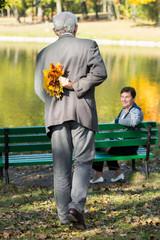 Man preparing surprise