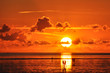 canvas print picture - Sonnenuntergang Nordsee