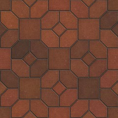 Brown Paving Slabs - Decorative Mosaic.