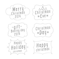 Collection design of Christmas Calligraphic Vintage