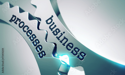 canvas print picture Business Processes on the Gears.
