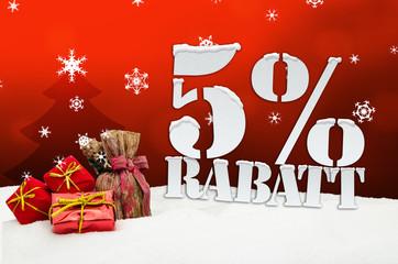 5% Rabatt discount christmas