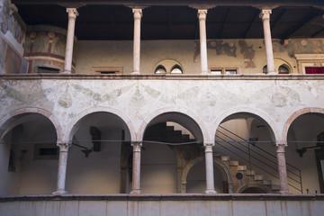 innet court of Trento Buonconsiglio castle