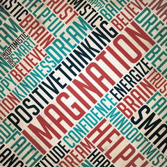 Imagination - Word Collage Concept.