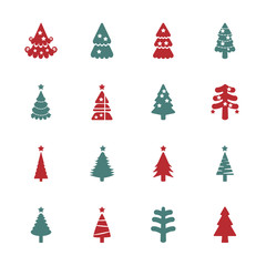 christmas tree icon set 2, vector eps10