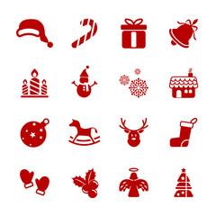 christmas icon set, vector eps10