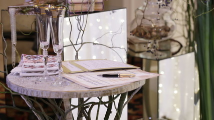 Table for signature