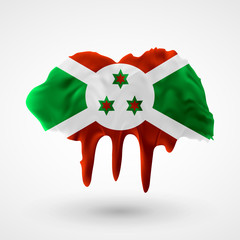 Flag of Burundi painted colors