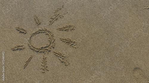 canvas print picture Sonne im Sand...
