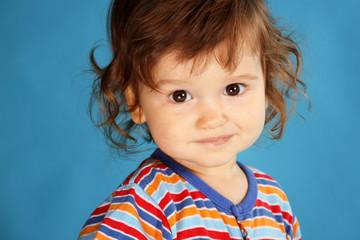 Portrait of a little boy smiling