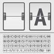 Vector scoreboard alphabet - 73461485