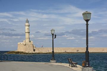 Kreta, venezianischer Leuchtturm von Chania.