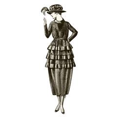 fashion model circa 1920