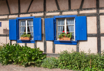 Devanture alsacienne à Ingersheim, Haut Rhin, Alsace