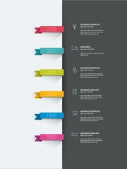 Timeline infographic. Minimalistic flat template.