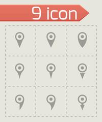 Vector map pointer icon set