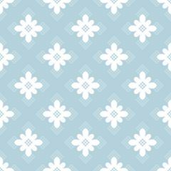 Blue flower dots seamless pattern