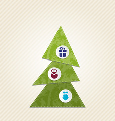 Christmas tree with infographics, minimal style