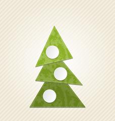 Christmas abstract tree, minimal style