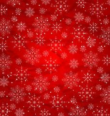 Christmas red wallpaper, snowflakes texture