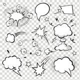 Fototapety Comic Speech Bubbles.  illustration.