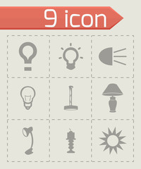 Vector light icons set
