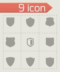Vector shield icons set