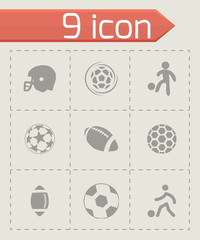 Vector soccer icons set