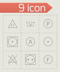Vector washing signs icons set