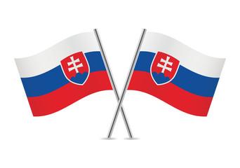 Slovakia flags. Vector illustration.