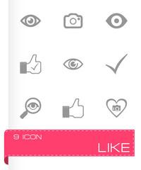 Vector like icons set