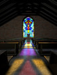Leinwandbild Motiv Stained Glass Window Church