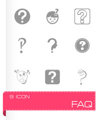 Vector FAQ icons set