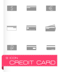 Vector credit card icons set