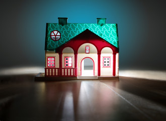 fairy house at night