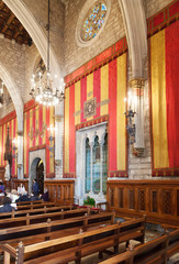 Ancient hall in city hall  in Barcelona, Catalonia