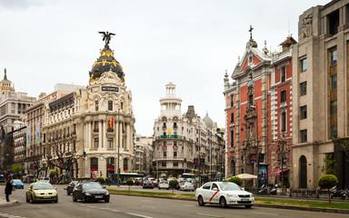 Calle de Alcala in Madrid, Spain