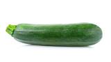 Fresh zucchini on white background