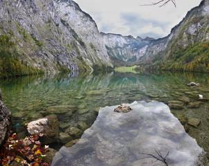 Magic reflection in German lake Koenigssee