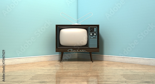Old Classic Television In A Room - 73467629