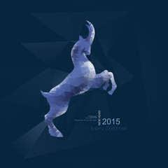 Chinese New Year 2015, goat with blue geometric pattern