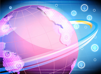 The satellite links,technology vector background