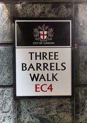 Three Barrells Walk, EC4