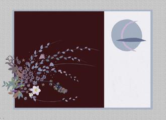 和風 花と月