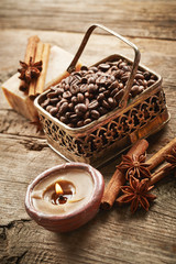 Spa with coffee beans