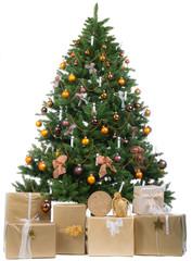 festlich geschmückter christbaum
