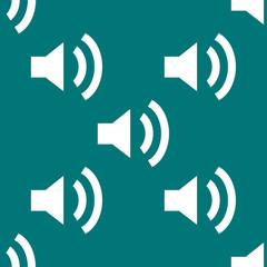 Speaker web icon. flat design. Seamless pattern.