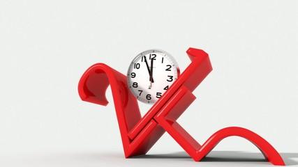 Anno nuovo 2015 con orologio
