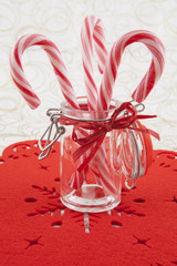 Traditional christmas candies cane